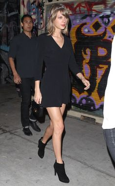 Taylor Swift has legs for days out in Downtown L.A!!!