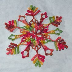 crochet snowflake pattern by snowcatcher