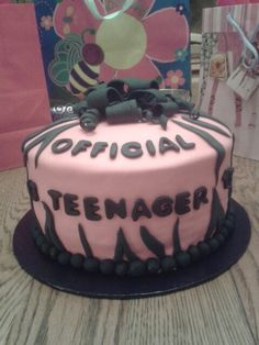 Official teenager birthday cake Switch to blue or whatever other