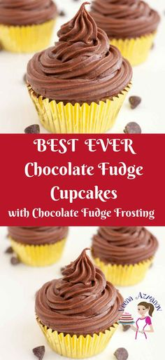 These chocolate fudge cupcakes are the ultimate luxury for any chocolate lover. Made with real chocolate in the batter as well as the frosting. The cupcakes are moist light with a soft crumb and the frosting is rich, dark and indulgent via veenaazmanov.com #chocolate #Fudge #cupcakes #Buttercream #chocolatefudgecupcakes #veenaazmanov #recipe #baking via @Veenaazmanov