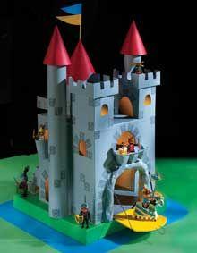 Pais criativos filhos Felizes!: Como fazer um Castelo de Material Reciclável.