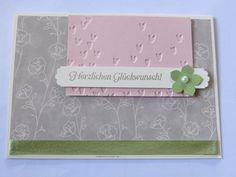 zum 45. Hochzeitstag meiner Eltern ... MtS Sketch 191:   Stampin up CS kischblüte, farngrün und vanille / Farbe saharasand / Stempelset Hoch hinaus