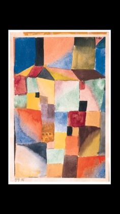 "Paul Klee - "" Rot / Grün / Orange / Blau"", 1919 - Watercolor on paper mounted by the Artist on board - 24,8 x 16,5 cm (*)"