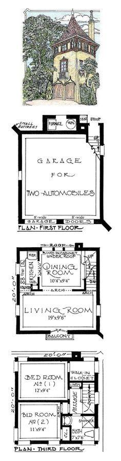Modern tower house plans