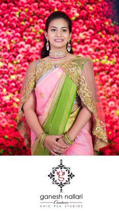 Saree Styles, Blouse Styles, Blouse Designs, Indian Sarees, Silk Sarees, Cape Jacket, Work Blouse, Saree Blouse, Party Time