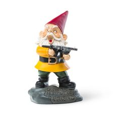 """Angry Little Garden Gnome - """"Say hello to my little friend"""""""