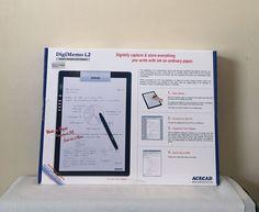 Solidtek Acecad DigiMemo L2 Digital Memory Portable Digital Notepad   | eBay