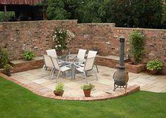 garden brick wall feature - Google Search