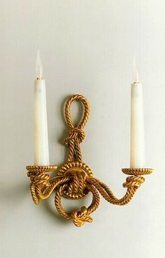 Tisserant Art & Style's cordage sconce. Perfect for a home by the beach.