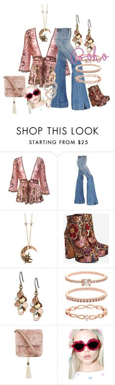 """""""Boho/Pink"""" by kloeyblue ❤ liked on Polyvore featuring Roberto Cavalli, Shellys, Lucky Brand, Accessorize, Brother Vellies and Gasoline Glamour"""