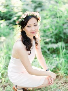 Flower Crown Gorgeous Glamping Engagement Session From We Are Origami