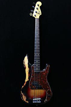 Vintage Bass Guitars, Custom Bass Guitar, Guitar Shop, Custom Guitars, Fender Bass Guitar, Fender Guitars, Fender Squire, Fender Precision Bass, All About That Bass