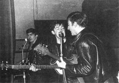 * The Beatles! * George, Paul, John. Aintree Institute. Late Summer. 1961.