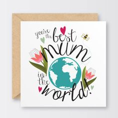 'Best Mum In The World' Mother's Day Card £2.50