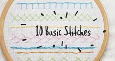 10 Basic Hand Embroidery Stitches for Beginners