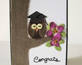 Owl Graduation Card, Graduation Card, Congratulations Card, Congratulations Graduate Card, Card, Greeting Card, Owl Card