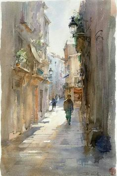 Igor Sava is a talented watercolor artist from Moldova. He was born on May Art Aquarelle, Watercolor Sketch, Watercolor Artists, Watercolor Paintings, Watercolors, Watercolor Ideas, Watercolor Techniques, Watercolor Architecture, Watercolor Landscape