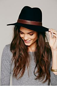 Hat Attack Leather Banded Floppy Hat at Free People
