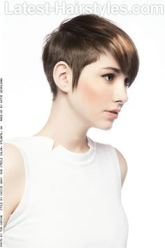 Short Haircut with Long Layers Side