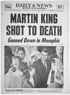 The dream is over, April 4th, 1968. Dr. Martin Luther King Jr  MLK