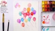 How to Paint Balloons with Watercolor, Wax Resist Painting Technique Watercolor Painting Techniques, Easy Watercolor, Watercolour Tutorials, Watercolor Pencils, Watercolour Painting, Watercolor Flowers, Watercolors, Paint Balloons, How To Draw Balloons