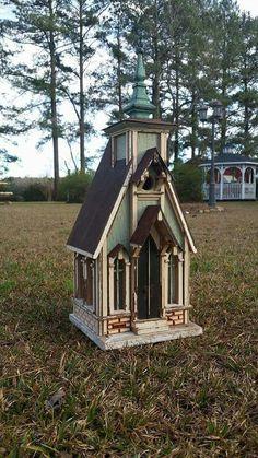 Country church birdhouse, #18.