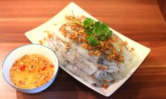 Banh Cuon is an ordinary dish which could be found wherever in Hanoi. Here we suggest tourists a list of top 5 places to try Banh Cuon in Hanoi. Vietnamese Cuisine, Vietnamese Recipes, Asian Recipes, Ethnic Recipes, Steamed Rice Cake, Rice Cakes, Hanoi Vietnam, Vietnam Tourism, Vietnam Travel