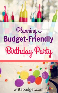 How to plan budget birthday party