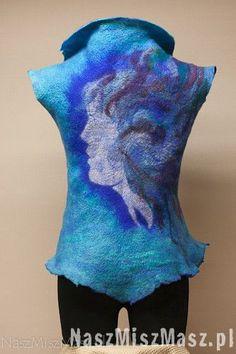 Ubrania Clothing Boxes, Nuno Felting, Textile Design, Woven Fabric, Wool Felt, Fiber Art, Tunics, Weave, How To Wear