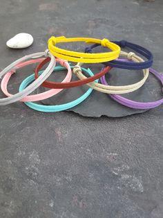 Party favours, Friendship bracelet, BFF bracelet, Simple cord Bracelet, Cord Bracelet, Minimalistic bracelets, friends gift, Wish bracelets by WiseRocks on Etsy Bff Bracelets, Simple Bracelets, Friendship Bracelets, Suede Bracelet, Lava Bracelet, Long Distance Relationship Bracelets, Rock Necklace, Gifts For Friends, Party Favours