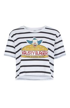 Primark - Camiseta blanca Simpsons «Krusty Burger»