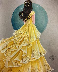 Шедевральные портреты Дисней Принцесс, нарисованные цветными карандашами
