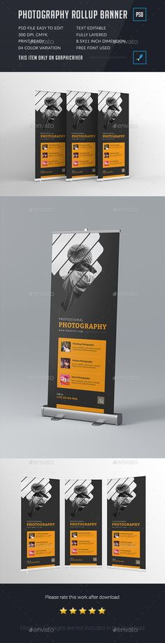 Photography Rollup Banner Template PSD. Download here: http://graphicriver.net/item/photography-rollup-banner/15901758?ref=ksioks