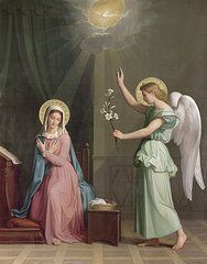Gabriel Paintings - The Annunciation by Auguste Pichon