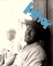 CHUCK CONNORS Rifleman CANDID PHOTO 8x10 RARE Conners cowboy hat behind scenes