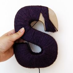"Yarn letter tutorial -- need this cause my ""S"" was a hot mess!"