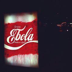 Enjoy Ebola by Kidult in Paris (LP) very tacky PD 3d Street Art, Street Art Graffiti, Street Artists, Best Graffiti, Graffiti Wall Art, Wall Writing, Banksy Art, Branding, Stencil Art