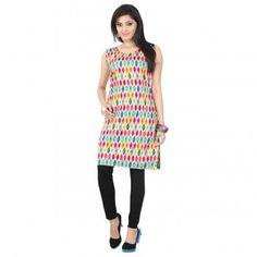 Kurtis - Buy Designer Kurti Online For Women Off - IndiaRush Girls Kurti, Ethnic Kurti, Ikat Print, Absolutely Gorgeous, Indian, Summer Dresses, Cotton, Stuff To Buy, Collection