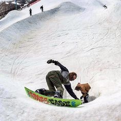 Forest Bailey carving in the Holy Bowly.  Spring time fun!  #snowboarding