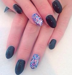 A little bling to a lovely dark navy :) call 01614857186 to book in with PINKYS AT CHAPEL :) x x x