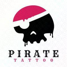 Pirate Skull Tattoo logo