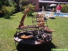 Outdoor Grilling/BBQ Pit Use to display/cook meat to serve to people. Use alongside larger grill?
