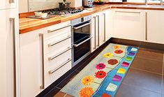 Passatoia cucina tappeto economico disegno floreale colorato KITCH FLOWER POWER 60X190 Kitchen Carpet, Flower Power, Kitchen Cabinets, Kids Rugs, Contemporary, Home Decor, Kitchen Cupboards, Homemade Home Decor, Kitchen Rug
