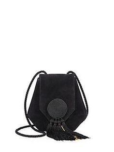 Saint Laurent Opium 3 Calfskin & Suede Crossbody Bag - Black