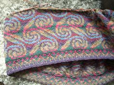 """""""Donegal"""" sweater in progress 