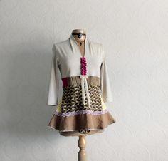 Reconstructed Top Boho Women's Shirt by BrokenGhostClothing