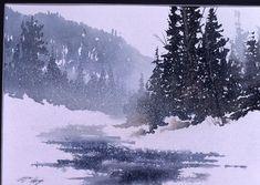 MacKenzie Watercolours - Artist Sault Ste. Marie Winter Watercolor, Art Painting, Landscape Paintings, Painting Snow, Winter Landscape, Tree Art, Winter Painting, Watercolor Landscape, Watercolour Inspiration