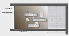 Rainer Wallmann: Layout and Planning work Bathroom Medicine Cabinet, Craftsman, Bathroom Lighting, Layout, Mirror, Furniture, Design, Home Decor, Magnets