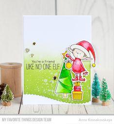Stamps: Santa's Elves Die-namics: Santa's Elves, Stitched Scallop Basic Edges 2  Anna Kossakovskaya  #mftstamps