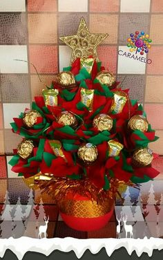 wreath crafts ideas idea de regalo para navidad corona navide 241 a con bombones 3272
